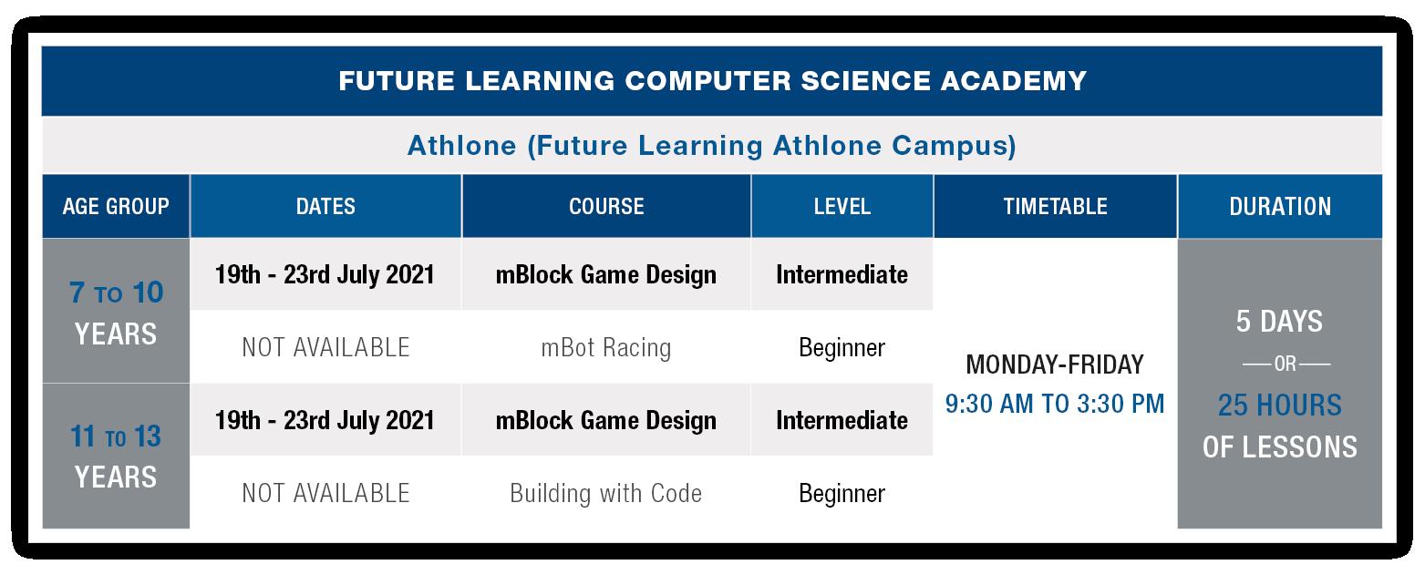 Athlone Schedules